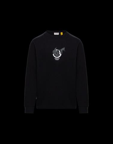 LONG-SLEEVED T-SHIRT Black New in Man