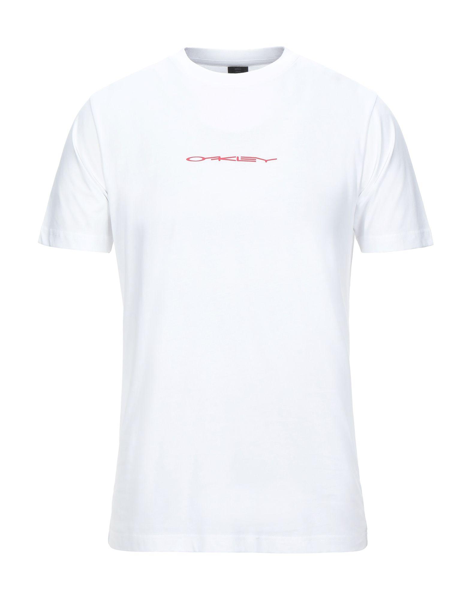 《セール開催中》OAKLEY メンズ T シャツ ホワイト S コットン 100%