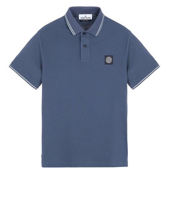 STONE ISLAND 22S18 Polo shirt Man Avio Blue
