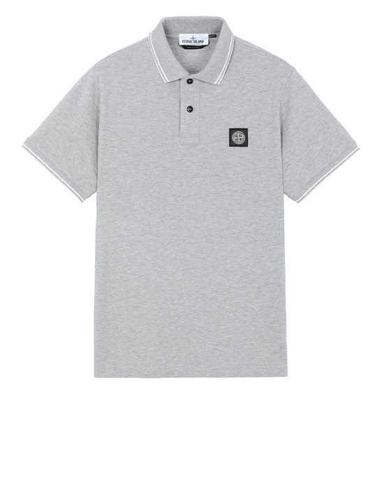 STONE ISLAND 22S18 Polo shirt Man DUST MELANGE