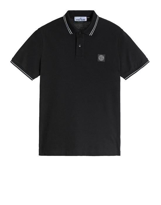 STONE ISLAND 22S18 Polo shirt Man Black