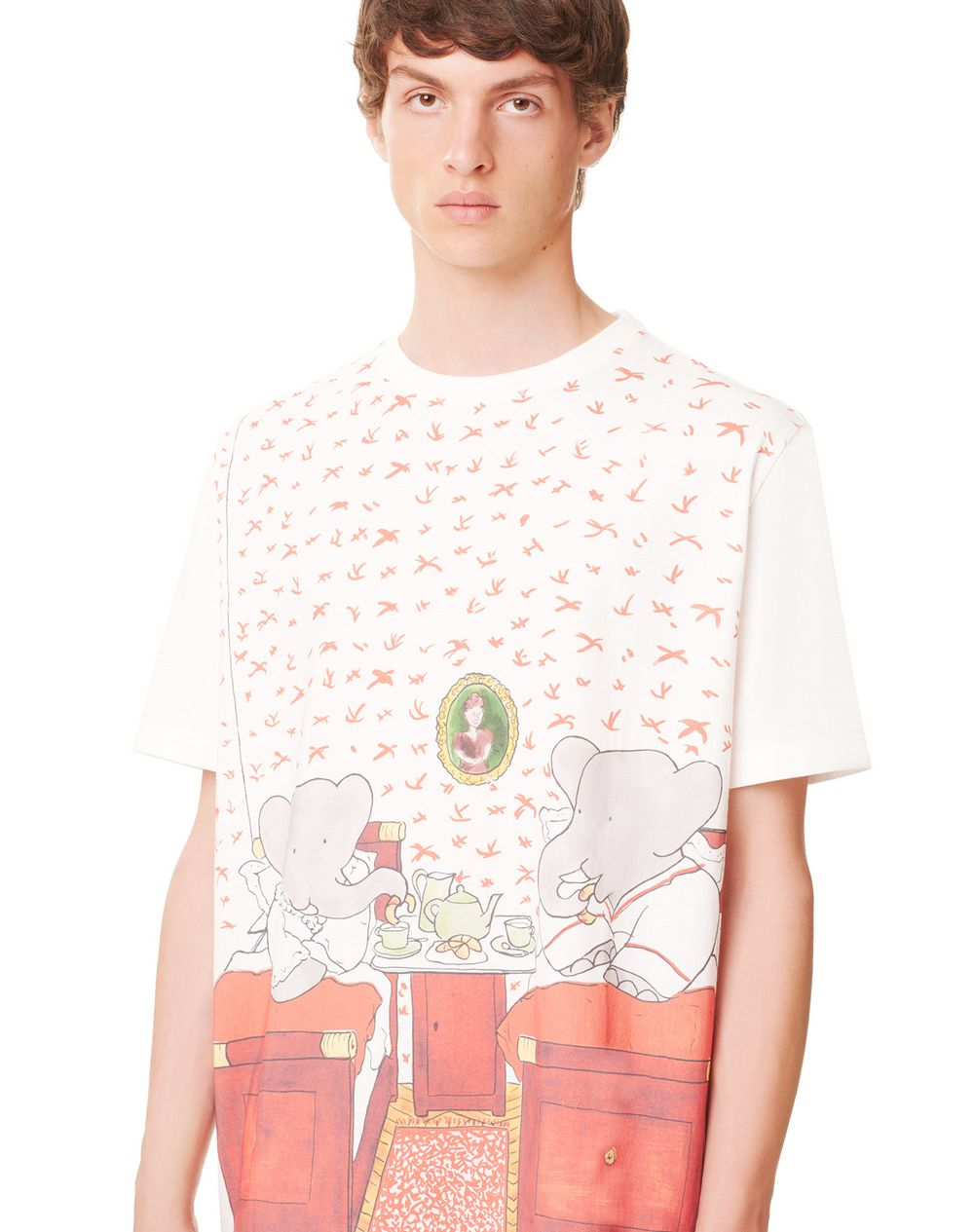 SHORT-SLEEVED COTTON T-SHIRT WITH BABAR BED PRINT - Lanvin