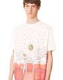 LANVIN Polos & T-Shirts Man SHORT-SLEEVED COTTON T-SHIRT WITH BABAR BED PRINT f