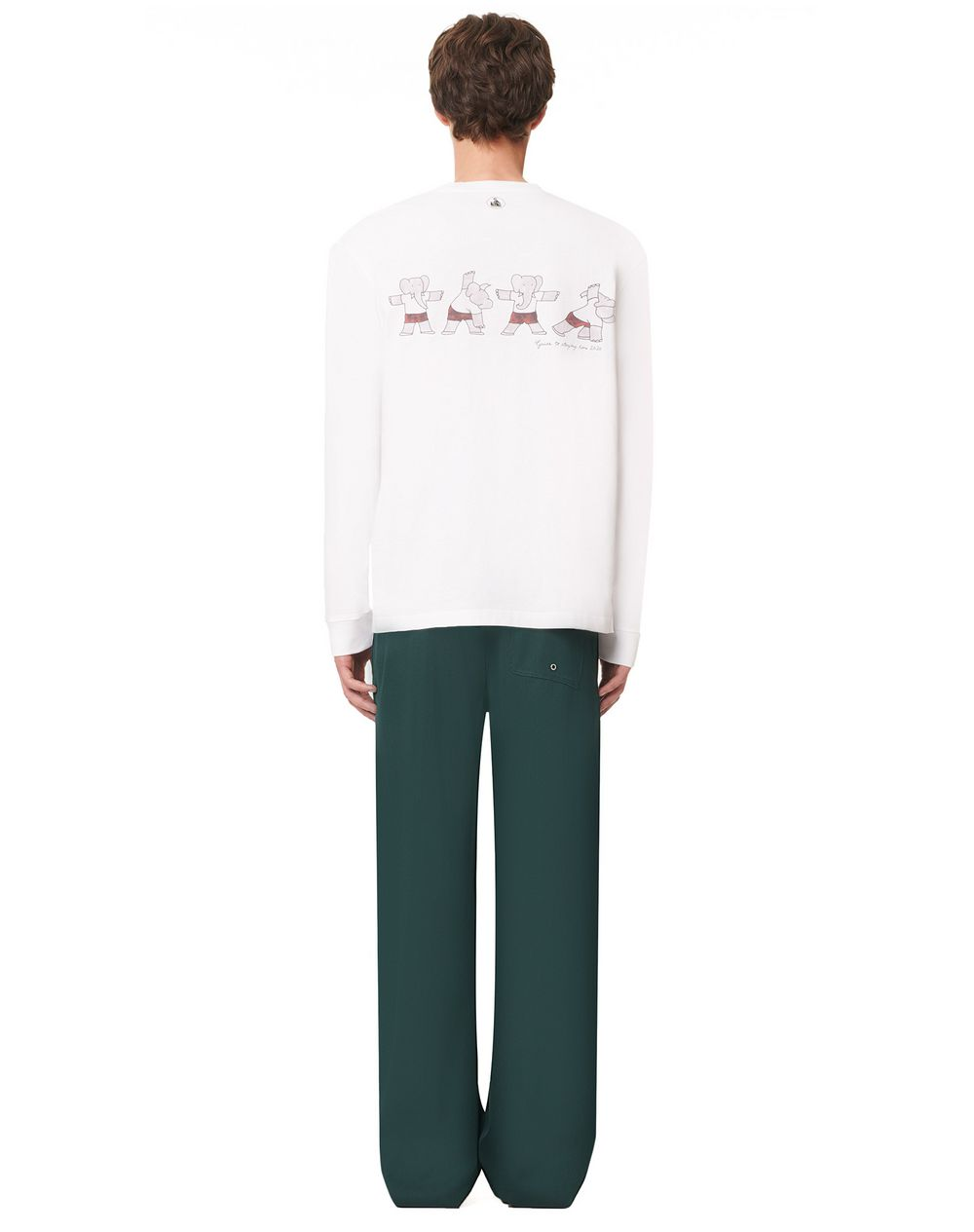 LONG-SLEEVED COTTON T-SHIRT WITH BABAR GYM PRINT - Lanvin