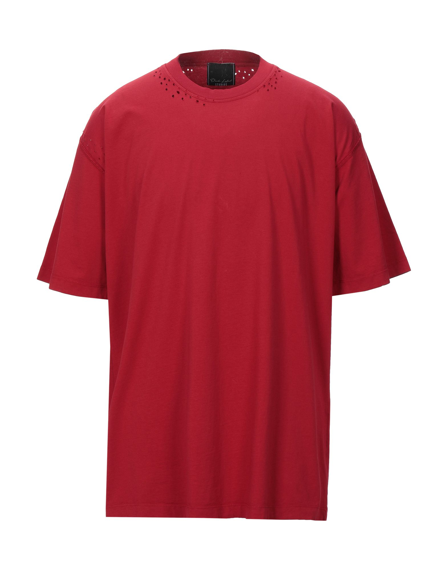《セール開催中》DARK LABEL メンズ T シャツ レッド XL コットン 100%
