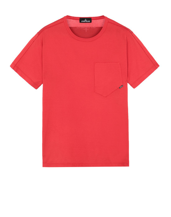 STONE ISLAND SHADOW PROJECT 20110 PRINTED SS CATCH POCKET-T T-SHIRT A MANICHE CORTE Uomo Rosso