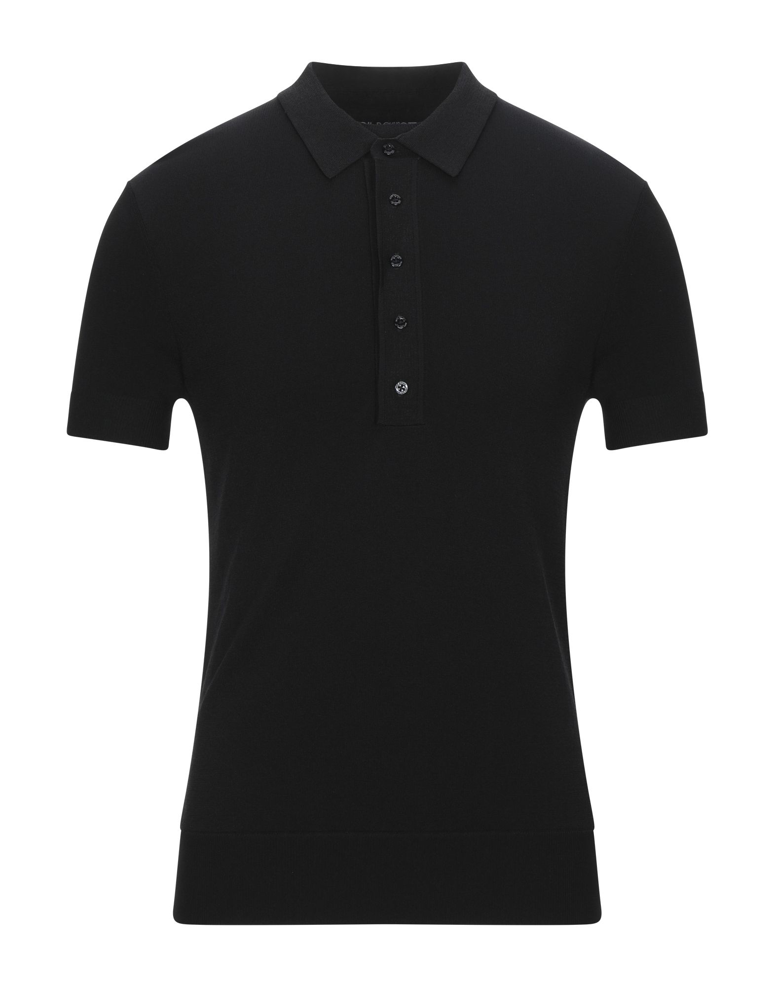 NEIL BARRETT Polo shirts. jersey, no appliqués, basic solid color, polo collar, short sleeves, no pockets, front closure, button closing, large sized. 75% Viscose, 25% Nylon