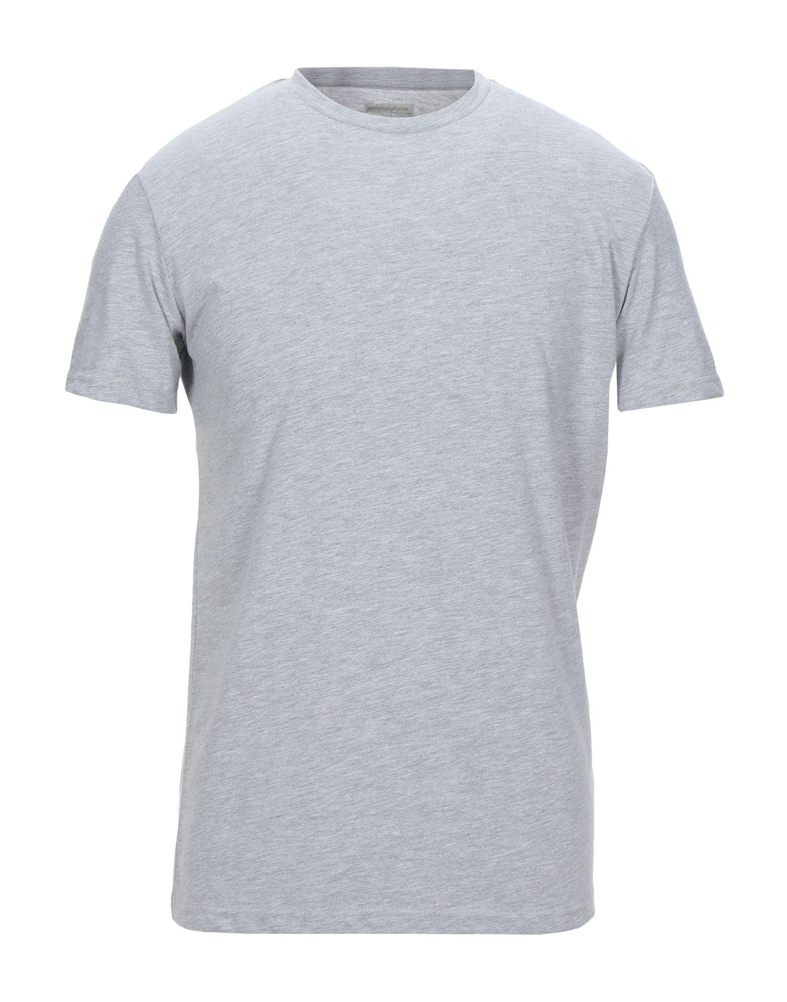《セール開催中》MANIFATTURA ITALIANA メンズ T シャツ ライトグレー S コットン 100%