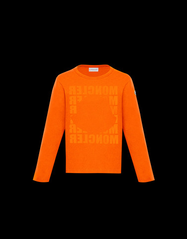 LONG-SLEEVED T-SHIRT Orange Kids 4-6 Years - Boy Man