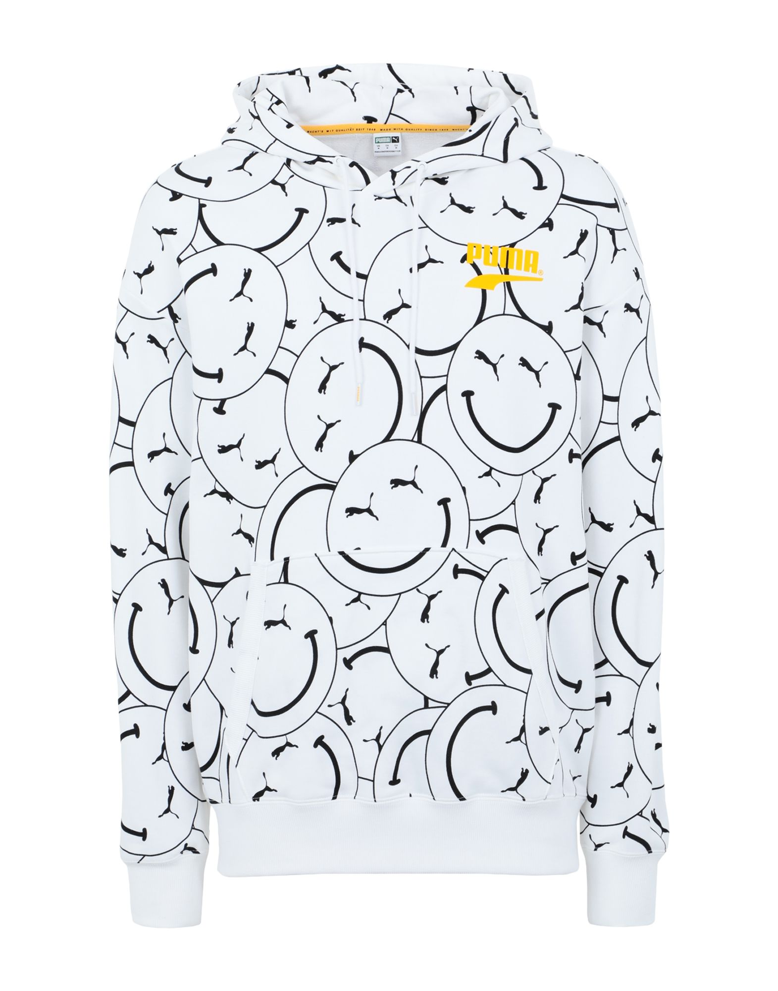 《セール開催中》PUMA メンズ スウェットシャツ ホワイト S コットン 100% PUMA Club AOP Hoodie TR