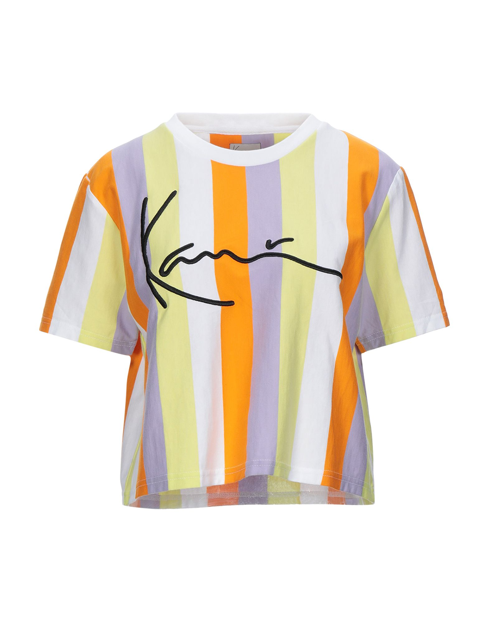 《セール開催中》KARL KANI レディース T シャツ オレンジ XS コットン 100%
