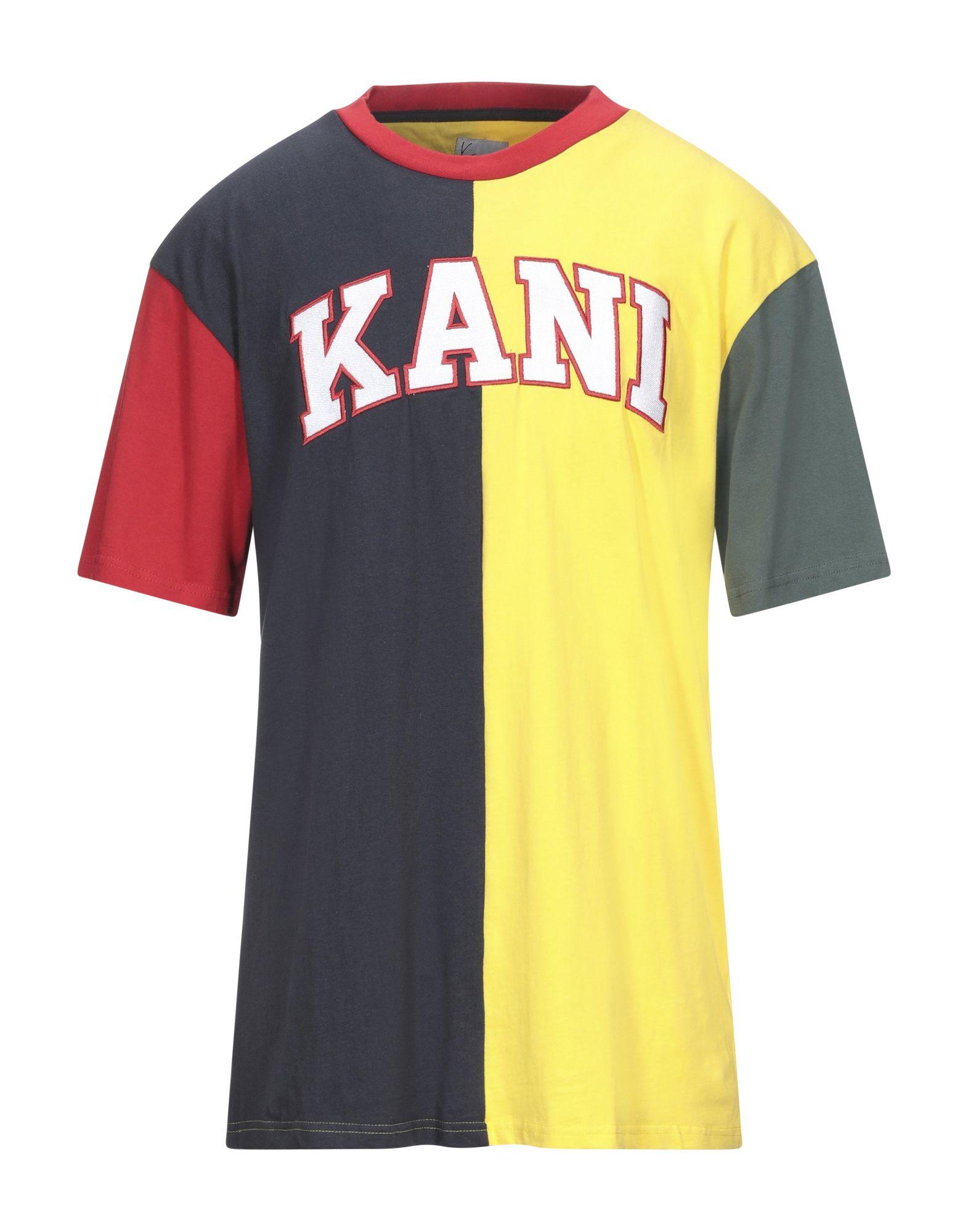 《セール開催中》KARL KANI メンズ T シャツ イエロー XS コットン 100%