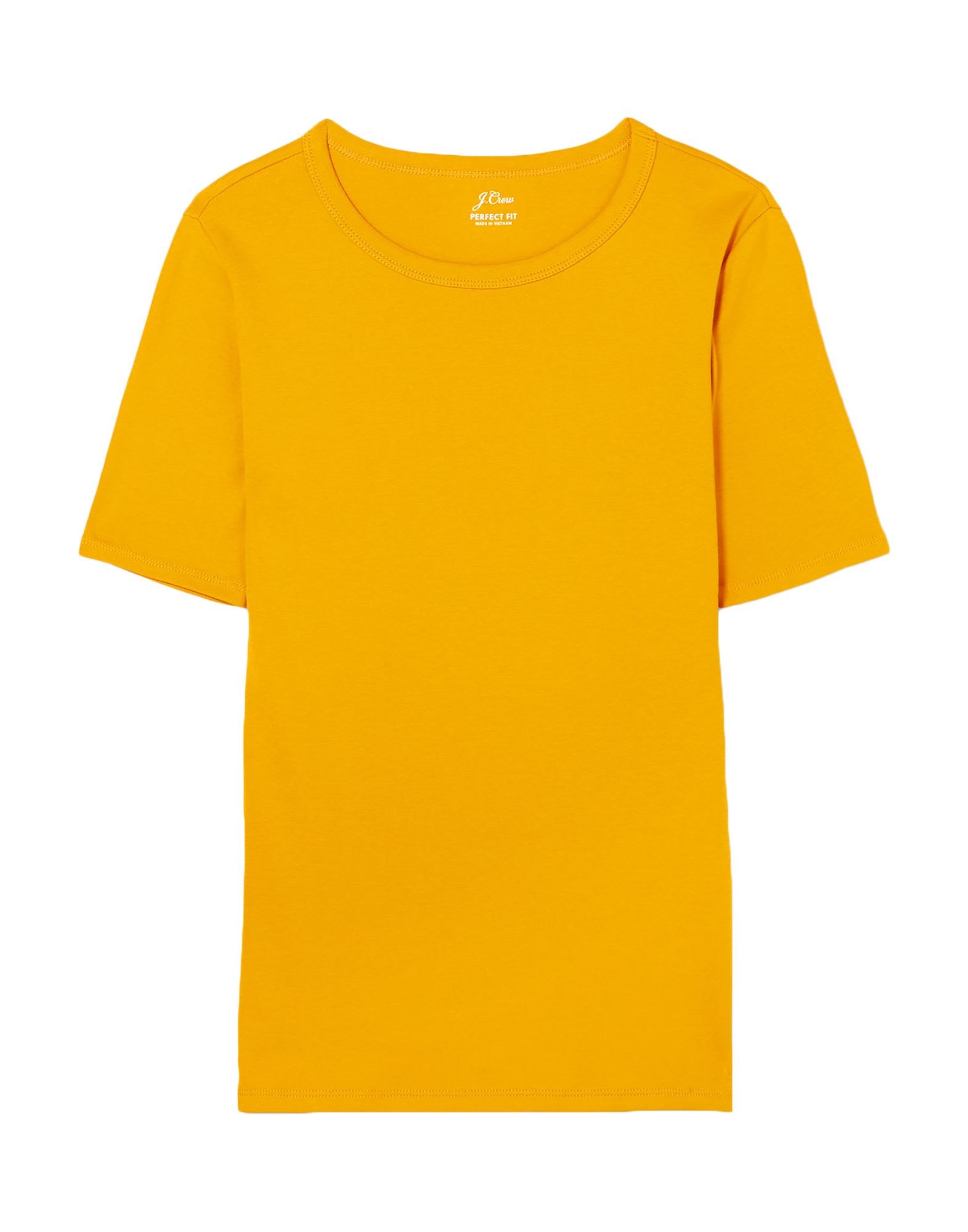 J.CREW T-shirts. jersey, no appliqués, basic solid color, round collar, short sleeves, no pockets. 100% Cotton