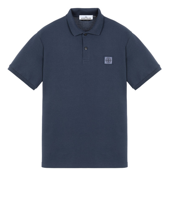 STONE ISLAND 22R39 Polo shirt Man Marine Blue