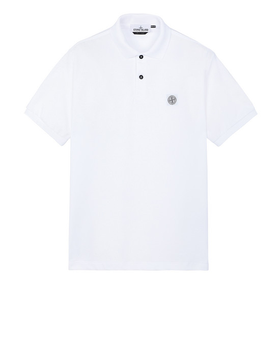 STONE ISLAND 22R39 Polo shirt Man White