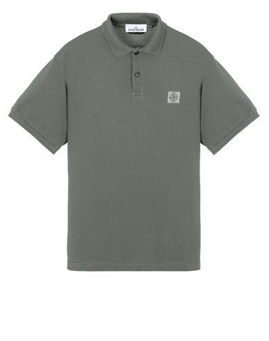 STONE ISLAND 22R39 Polo shirt Man Musk Green USD 147