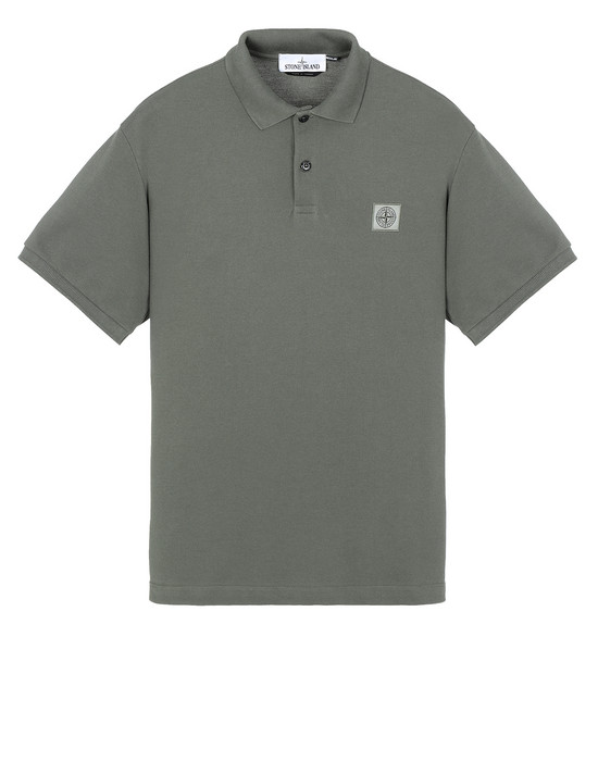 STONE ISLAND 22R39 Polo shirt Man Musk Green