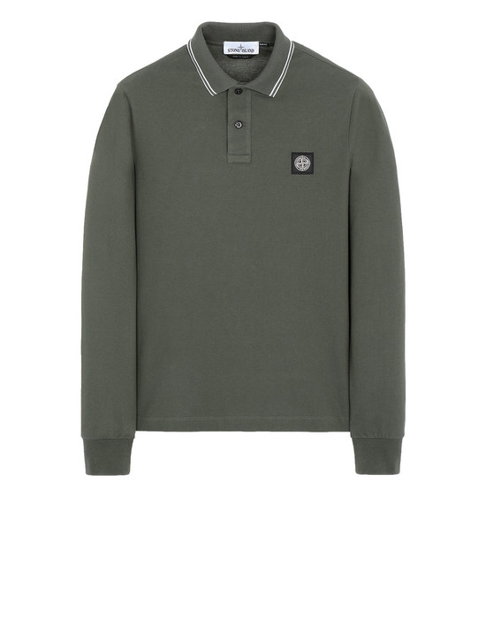 STONE ISLAND 2SS18 Polo shirt Man Musk Green