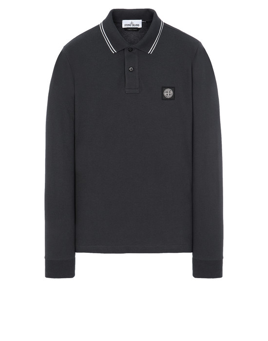 STONE ISLAND 2SS18 Polo shirt Man Steel Grey