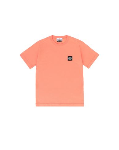 STONE ISLAND JUNIOR 20147 Short sleeve t-shirt Man Lobster Red EUR 75