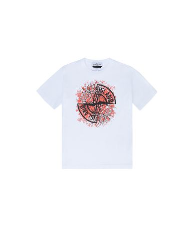 STONE ISLAND JUNIOR 21057 Short sleeve t-shirt Man White EUR 85