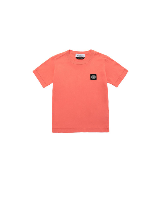 STONE ISLAND KIDS 20147 Short sleeve t-shirt Man Lobster Red