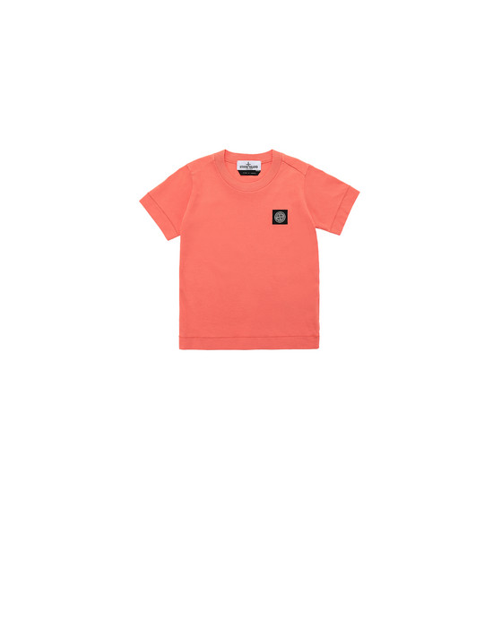 STONE ISLAND JUNIOR 20147 Short sleeve t-shirt Man Lobster Red