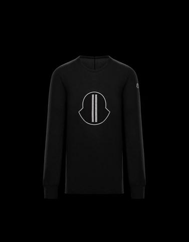 LONG-SLEEVED T-SHIRT Black Moncler Rick Owens Woman