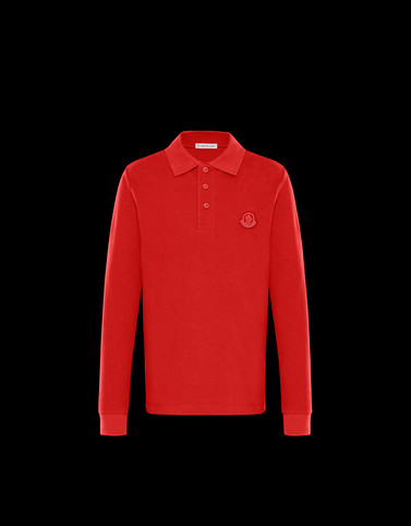 LONG-SLEEVED POLO Red Teen 12-14 years - Boy Man