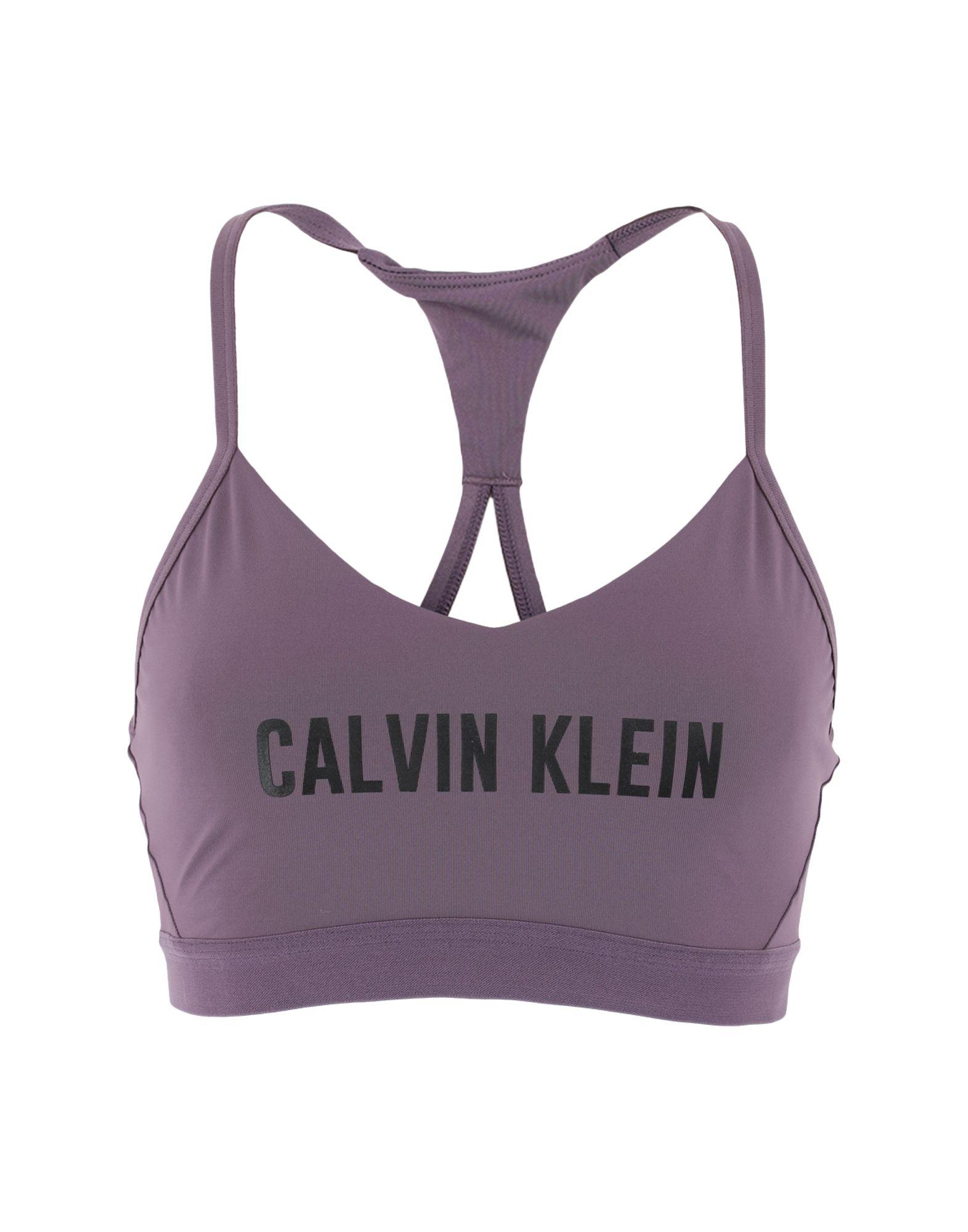 《セール開催中》CALVIN KLEIN PERFORMANCE レディース トップス ダークパープル XS ポリエステル 75% / ポリウレタン 25%