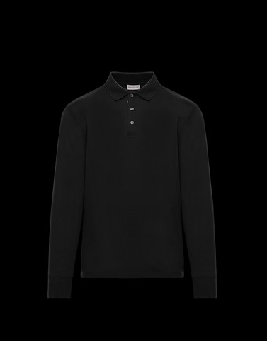 LONG-SLEEVED POLO Dark blue Shirts Man
