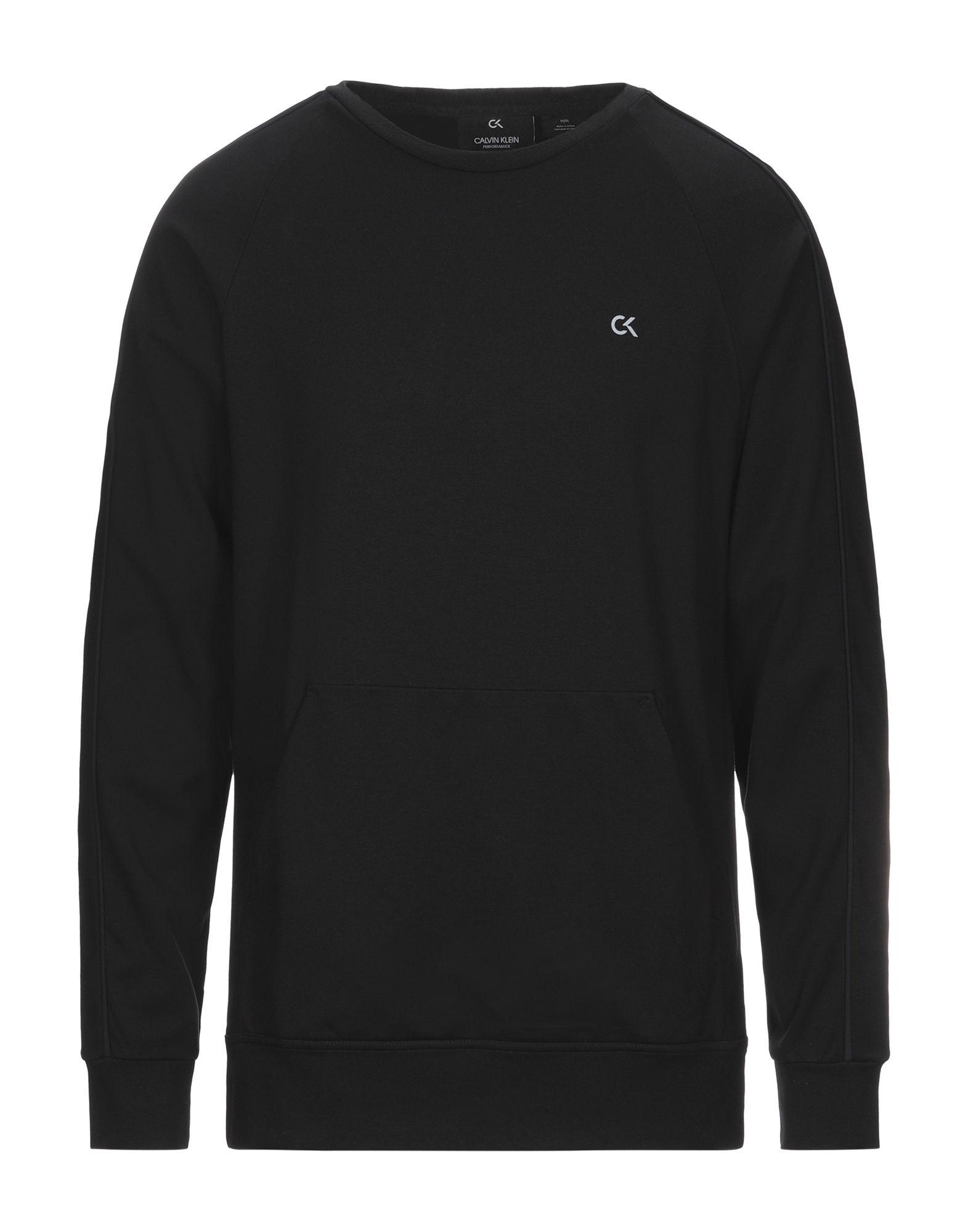 《セール開催中》CALVIN KLEIN PERFORMANCE メンズ スウェットシャツ ブラック S レーヨン 68% / ナイロン 27% / ポリウレタン 5%