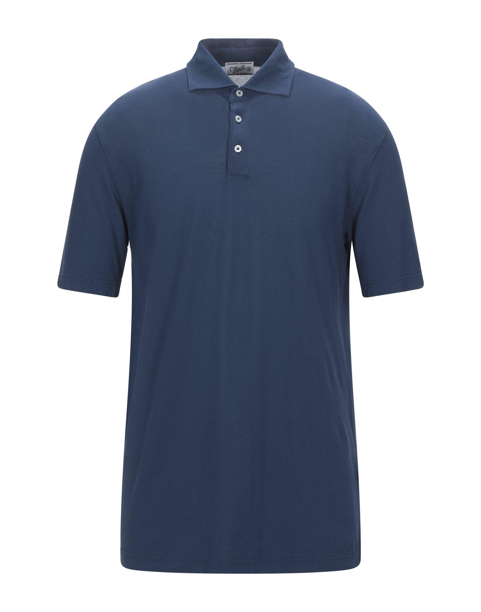 《セール開催中》S. MORITZ メンズ ポロシャツ ブルー 52 コットン 100%