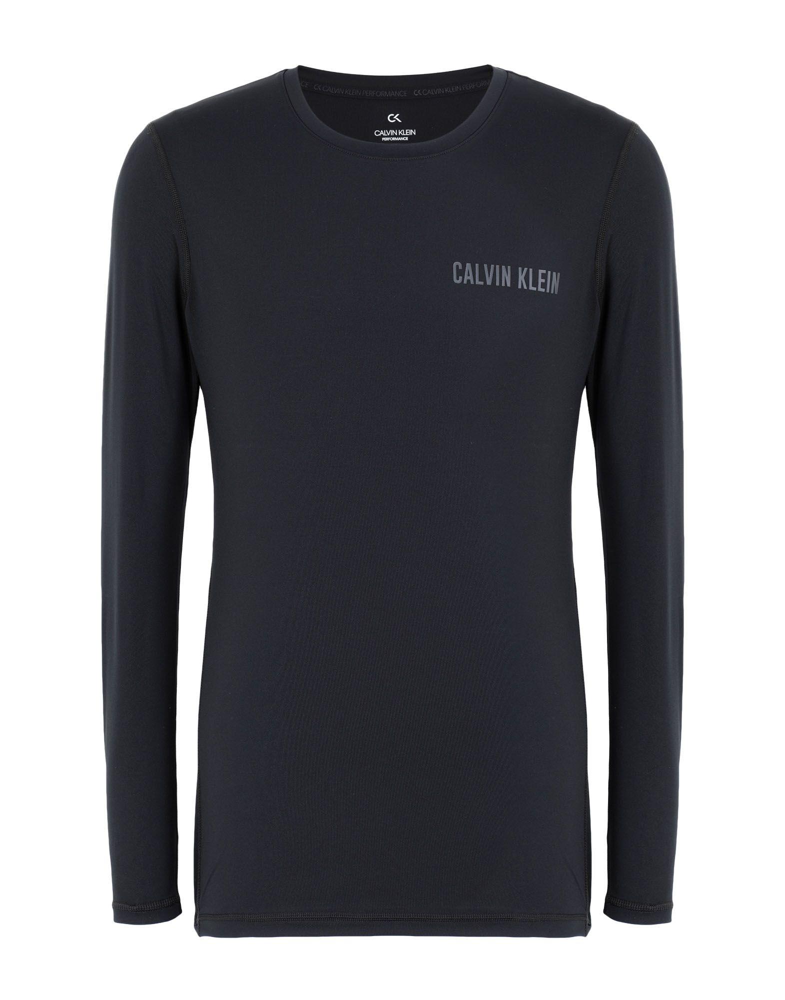 《セール開催中》CALVIN KLEIN PERFORMANCE メンズ T シャツ ブラック S ポリエステル 92% / ポリウレタン 8% LONG SLEEVE T-SHIRT