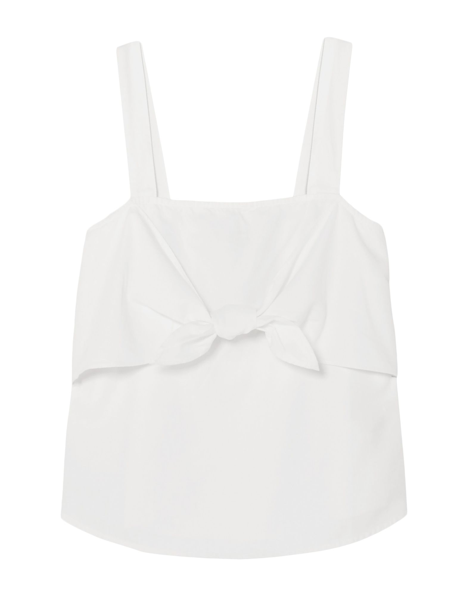 MADEWELL Tops. plain weave, no appliqués, basic solid color, deep neckline, sleeveless, no pockets. 60% Cotton, 40% Modal