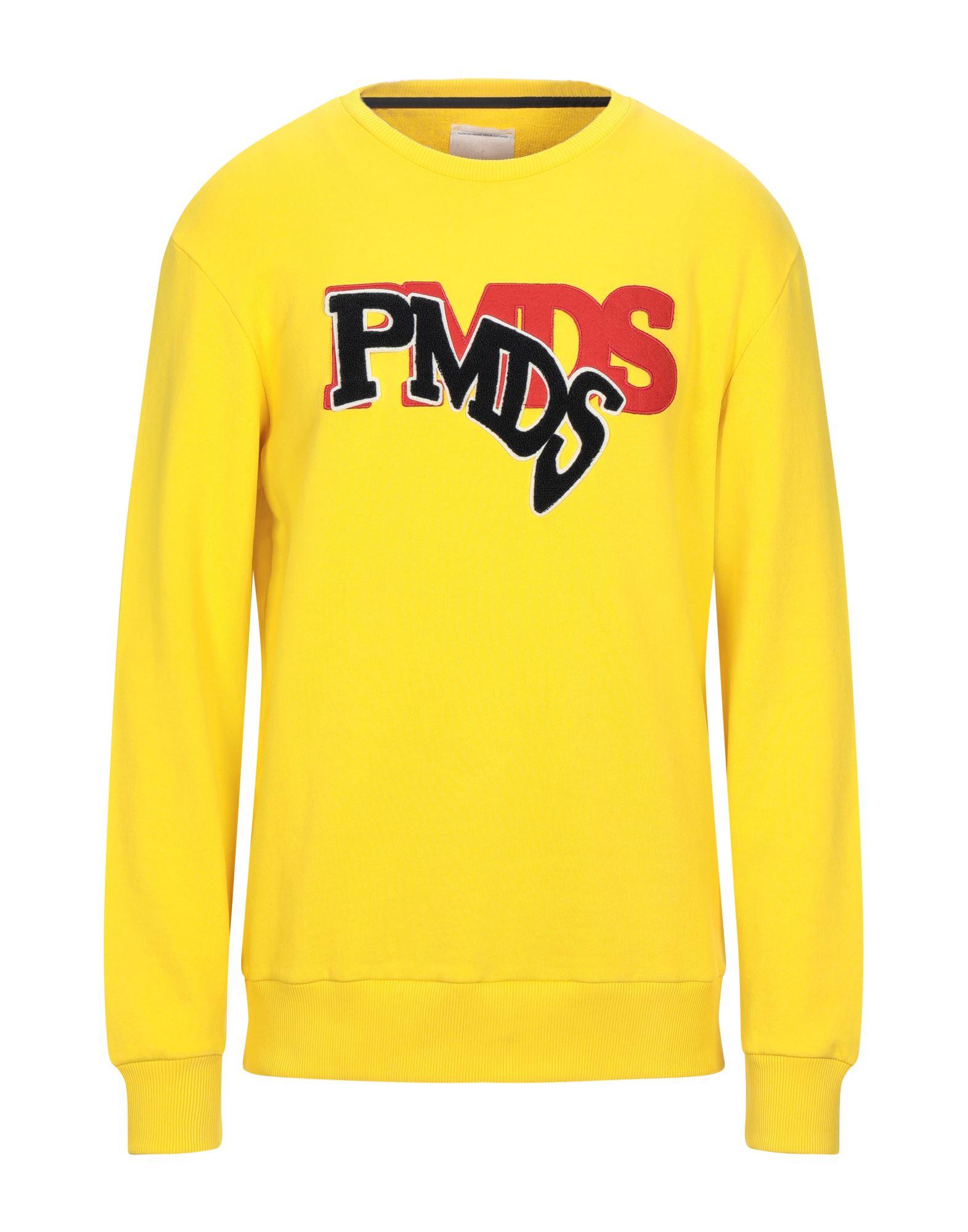 《セール開催中》PMDS PREMIUM MOOD DENIM SUPERIOR メンズ スウェットシャツ イエロー XL コットン 100%