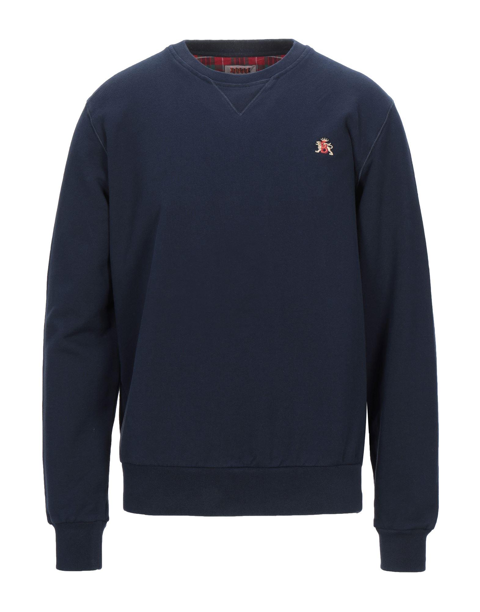 《セール開催中》BARACUTA メンズ スウェットシャツ ダークブルー M コットン 100%