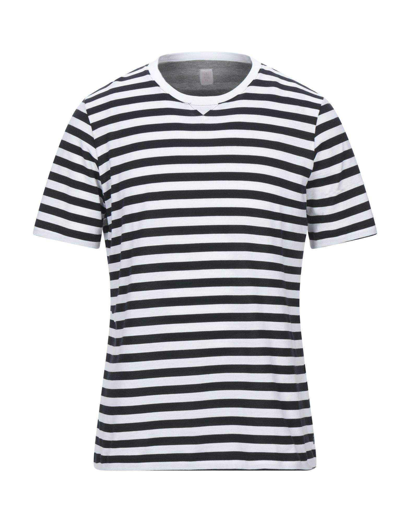 ELEVENTY T-shirts. jersey, no appliqués, stripes, round collar, short sleeves, small sized. 100% Cotton