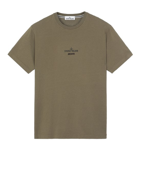STONE ISLAND 2NS91 STONE ISLAND ARCHIVIO PROJECT_MONOBAVA Short sleeve t-shirt Man Olive Green