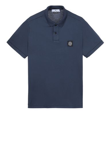 STONE ISLAND 22613 Polo shirt Man Avio Blue USD 210