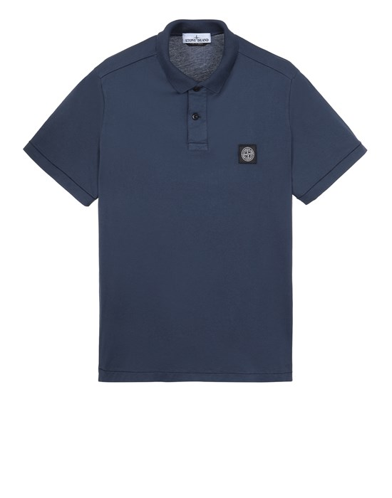 STONE ISLAND 22613 Polo shirt Man Avio Blue
