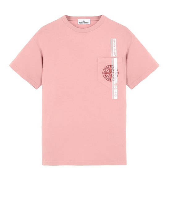 STONE ISLAND 24675 'BLOCK FOUR' Short sleeve t-shirt Man Pink Quartz