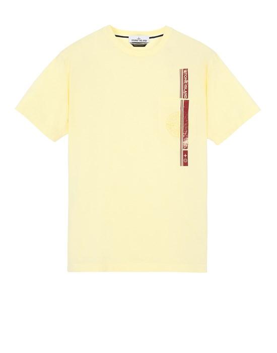 STONE ISLAND 24675 'BLOCK FOUR' Short sleeve t-shirt Man Lemon