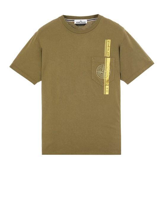STONE ISLAND 24675 'BLOCK FOUR' Short sleeve t-shirt Man Olive Green
