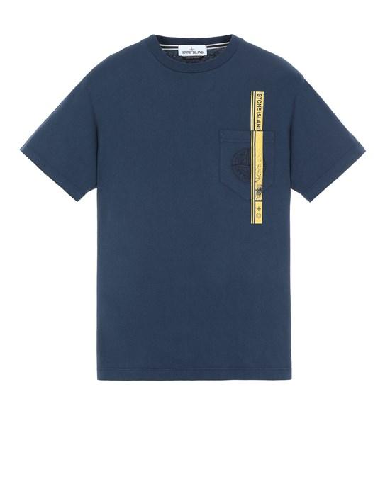 STONE ISLAND 24675 'BLOCK FOUR' Short sleeve t-shirt Man Avio Blue
