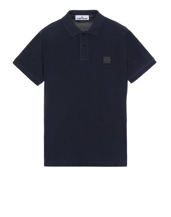 STONE ISLAND 22S67 PIGMENT DYE TREATMENT Polo shirt Man Blue