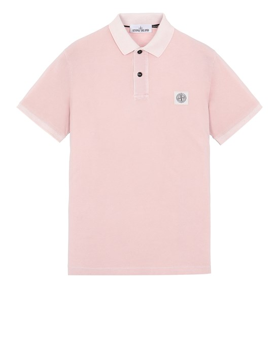 STONE ISLAND 22S67 PIGMENT DYE TREATMENT Polo shirt Man Pastel pink