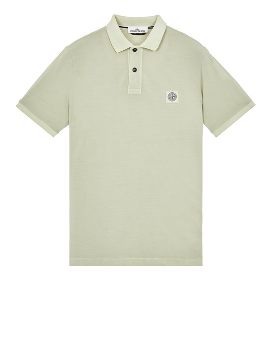 Polo shirt Man 22S67 PIGMENT DYE TREATMENT Front STONE ISLAND