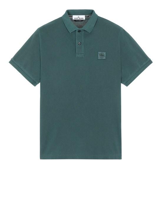 ポロシャツ メンズ 22S67 PIGMENT DYE TREATMENT Front STONE ISLAND