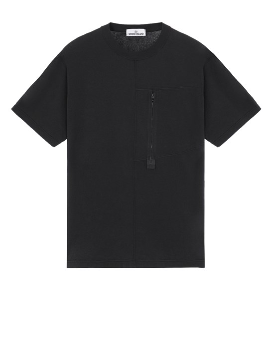 STONE ISLAND 20158 Short sleeve t-shirt Man Black